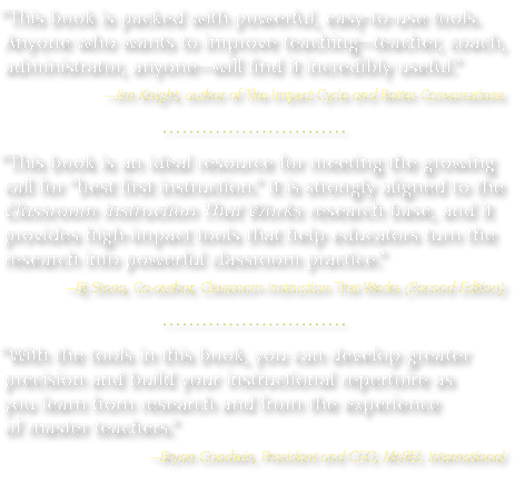 Here's what top experts are saying about Tools for Classroom Instruction That Works: